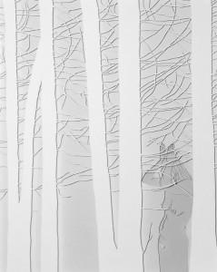 Esther Glück - Im Wald I, Papierschnitt 50 x 40 cm