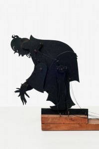 Ernst Moritz Engert Ostasiatischer Mann,  Schattenspielfigur, (vor) 1928 Sperrholz, schwarz bemalt Höhe ca. 40 cm August Macke Haus Bonn