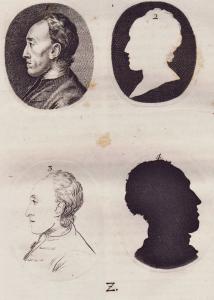 Silhouetten nach Johann Caspar Lavater