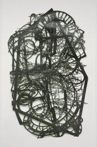 Gabriele Basch: run I, 2008, Lack auf Papierschnitt, 224 x 133 cm (Foto: Marcus Schneider)