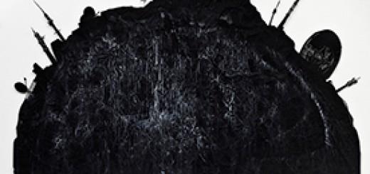 Harriet Groß: Riß, 2011, Metall Cutout, 156 x 123 cm, Foto : Hansgeorg Gaul (Detail)