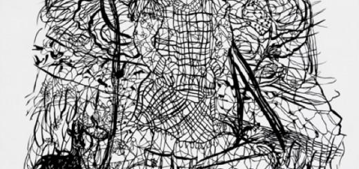 Zipora Rafaelov: Adina 2013 Cutout 113 x 90 cm Tusche, Pergament