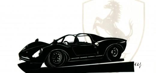 Ferrari Dino 16P, 1965 gerahmt