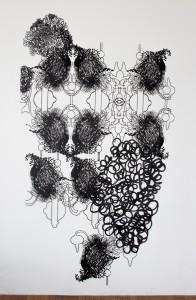7. Dorthe Goeden, Papierschnitt'', _2014_265 x 150 cm.Photo the artist